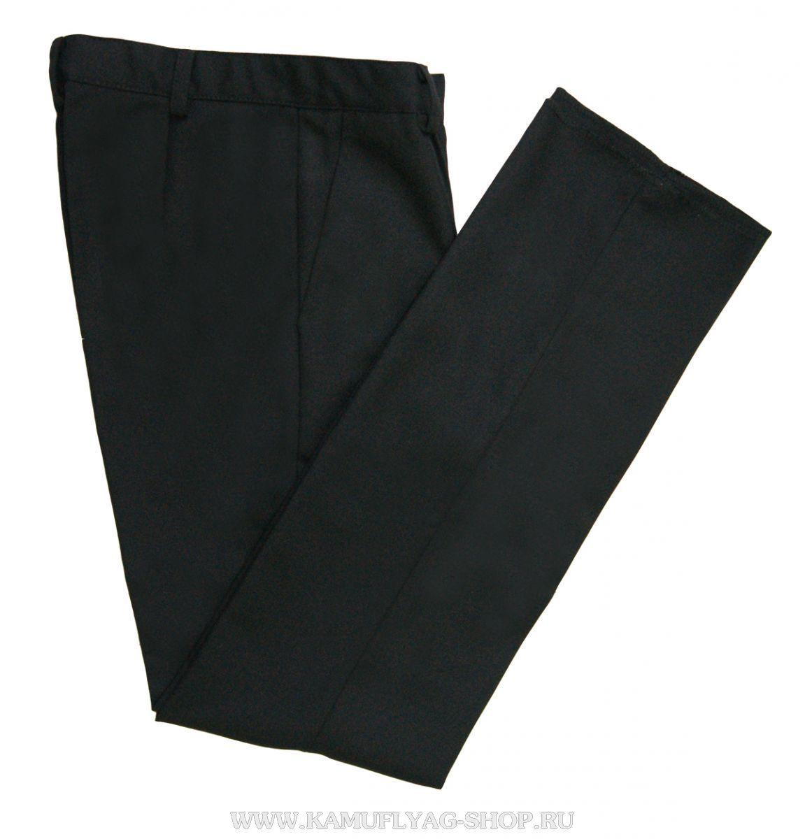 Брюки форменные мужские черные