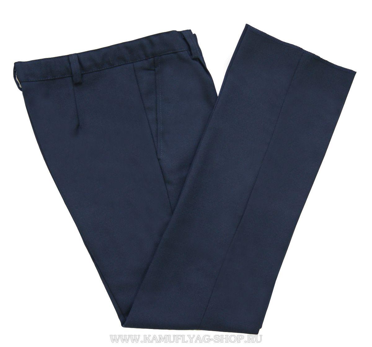 Брюки форменные женские синие