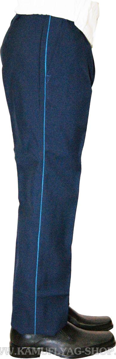 Брюки форменные женские с голубым кантом