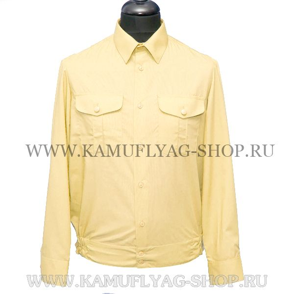 Рубашка форменная, бежевая