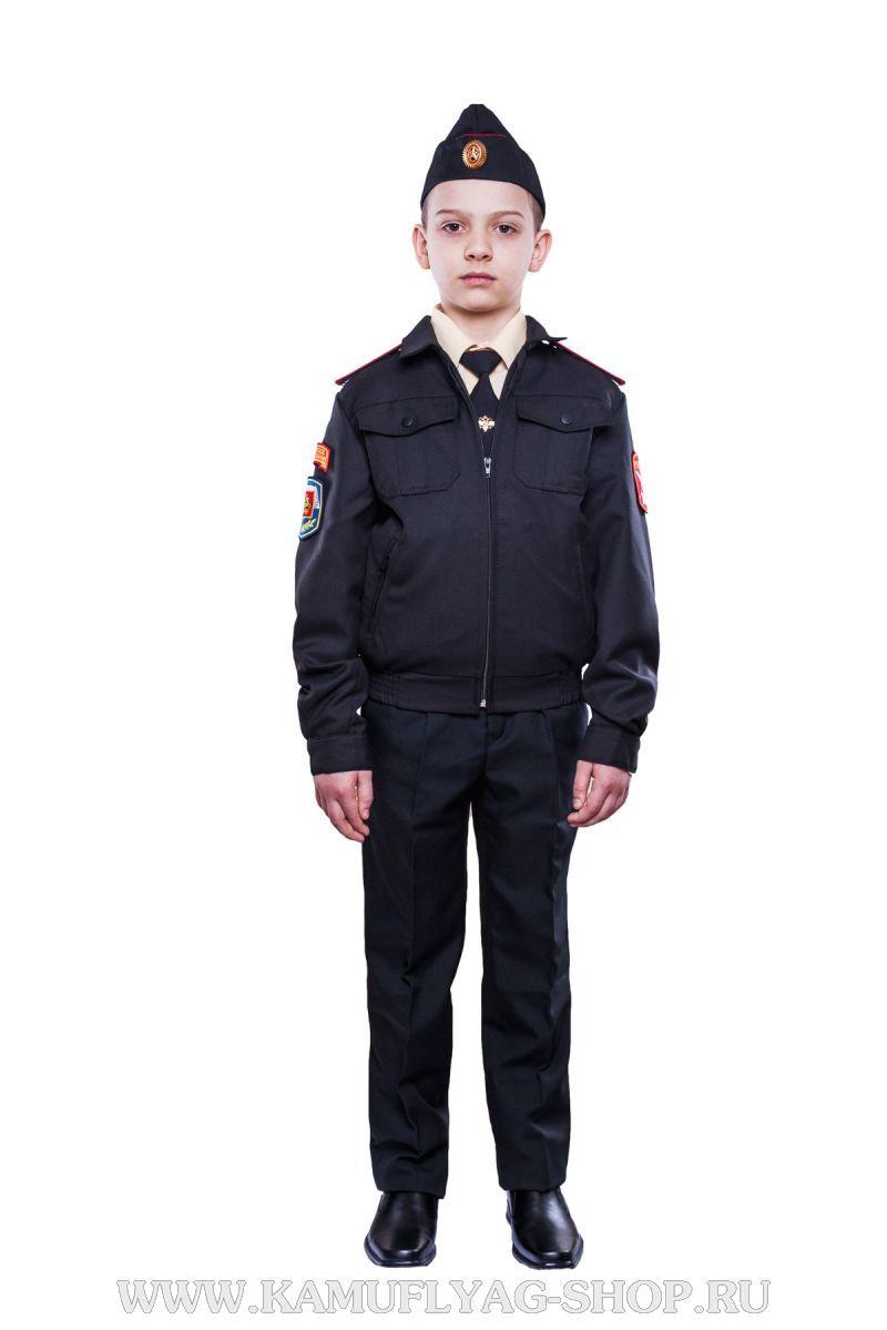 Куртка форменная на молнии черная