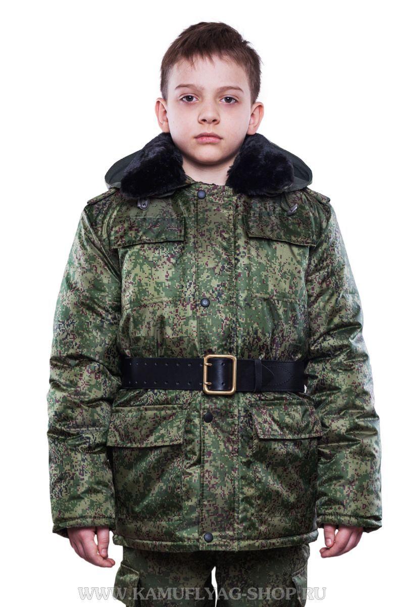 Куртка-бушлат зимний ЦИФРА