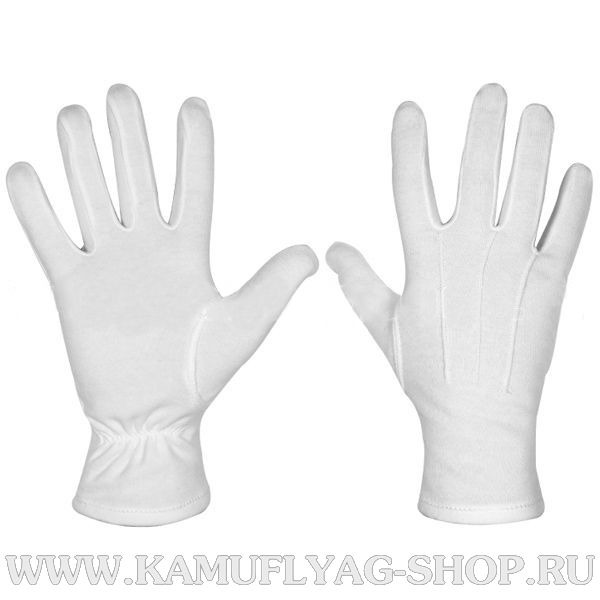 Перчатки х/б парадные, белые