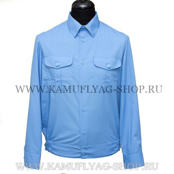Рубашка форменная, голубая
