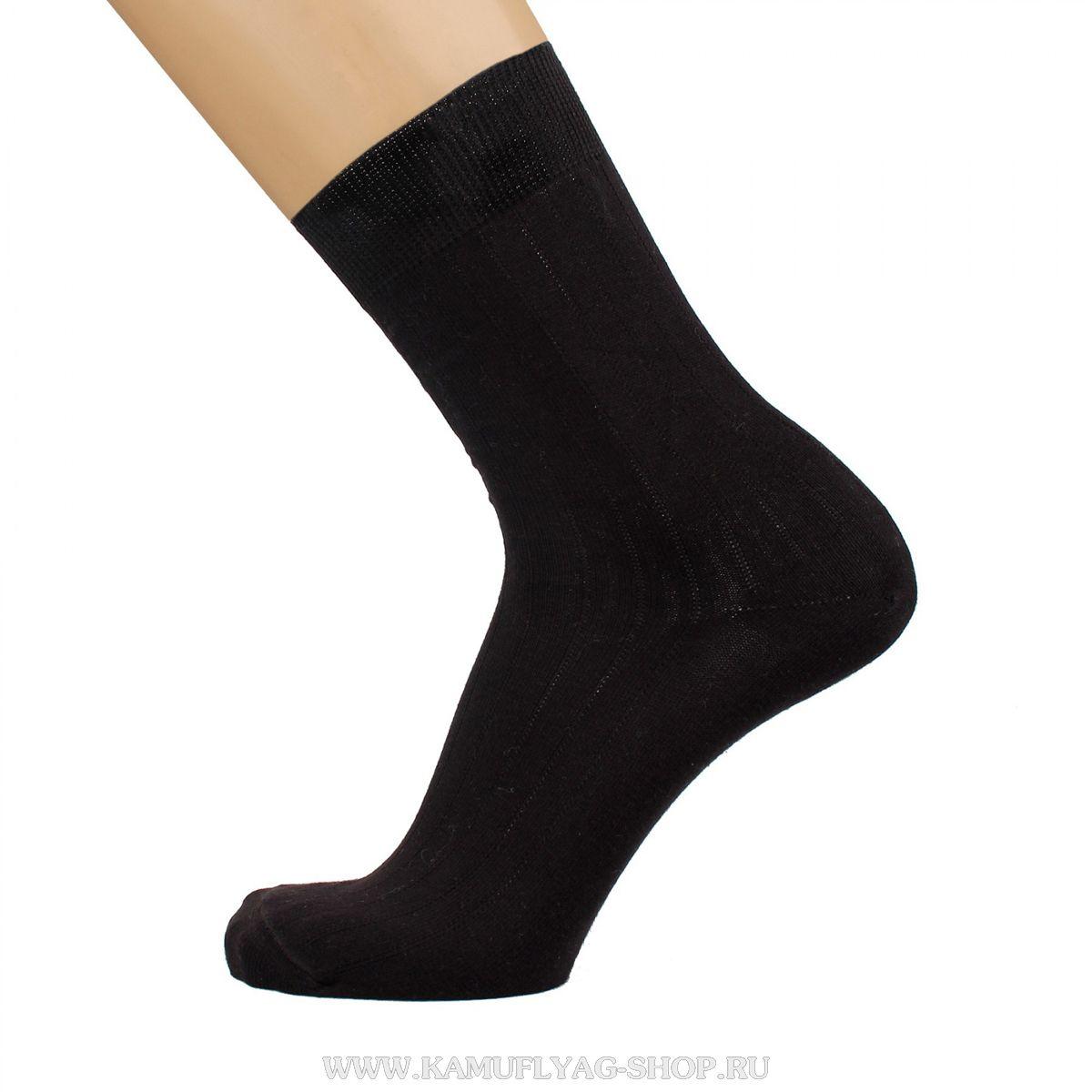 Носки мужские черные с антибактериальным эффектом