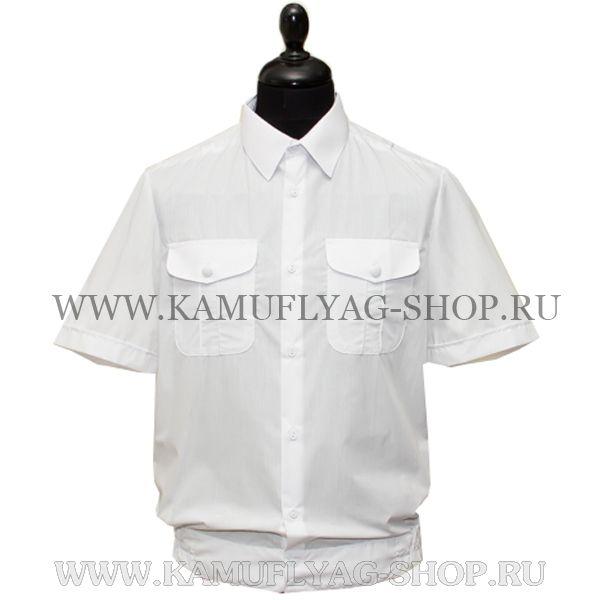 Рубашка форменная с коротким рукавом, белая
