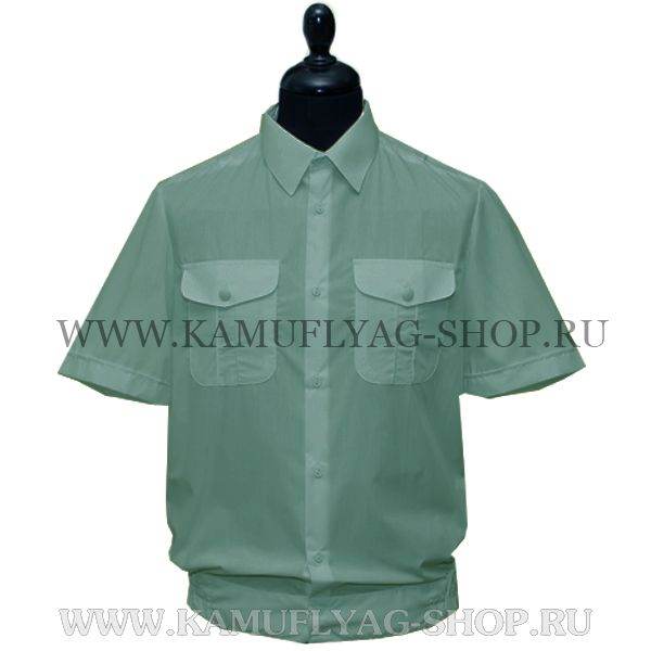 Рубашка форменная с коротким рукавом, оливковая