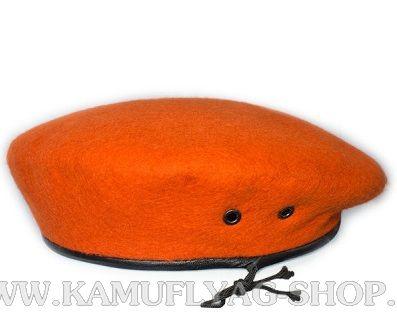 Берет оранжевый бесшовный