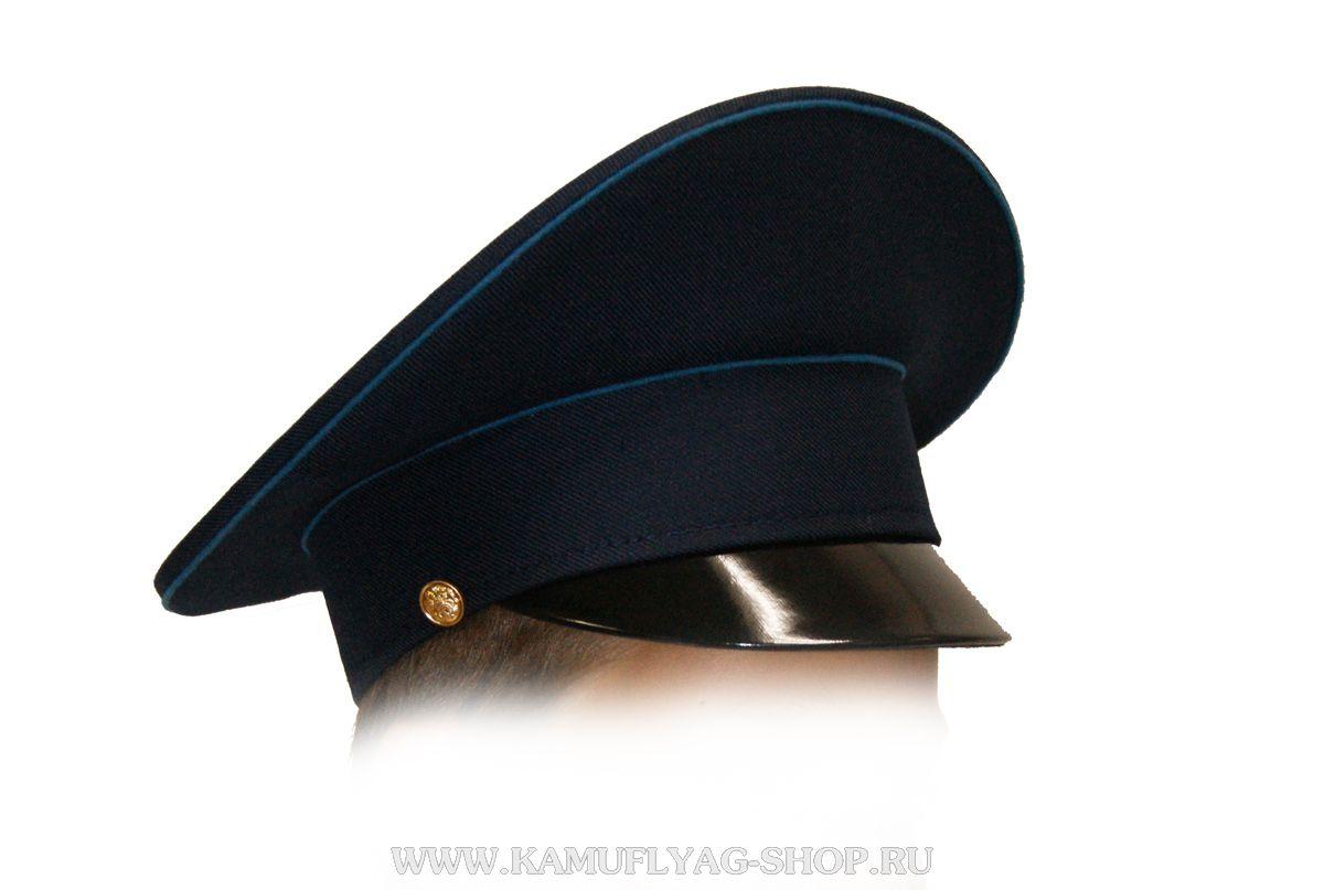 Фуражка синяя, голубой кант