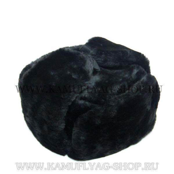 Шапка-ушанка из искусственного меха, меховое дно