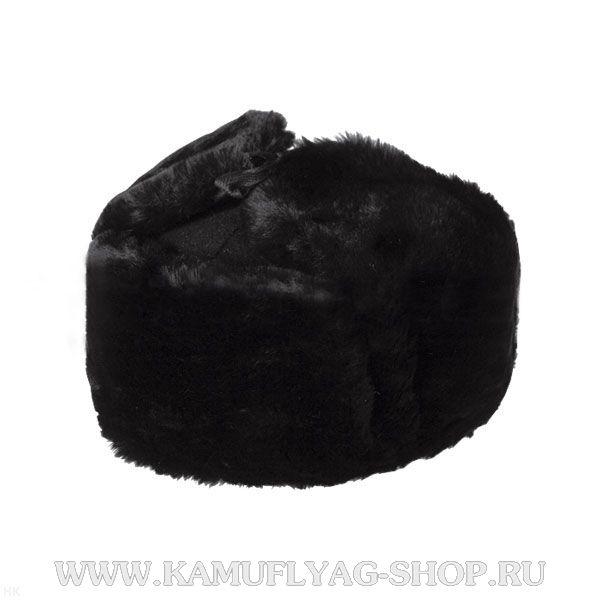 Шапка-ушанка из искусственного меха, суконное дно