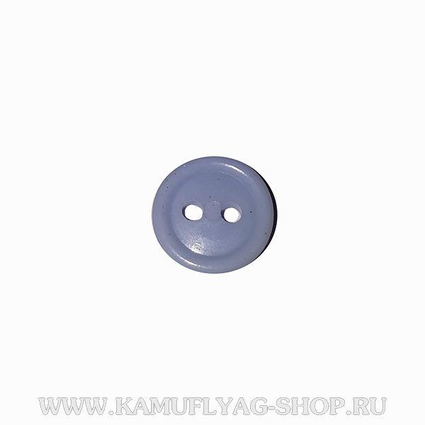 Пуговица рубашечная с 2 проколами, светло-голубая,Полиция
