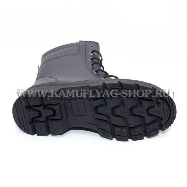 Ботинки с высокими берцами черные