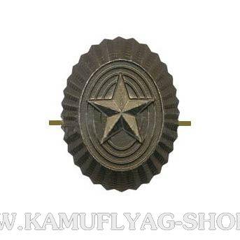 Кокарда металлическая РА малая, защитная