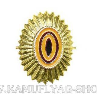 Кокарда металлическая РА нов.образца,малая, золотая