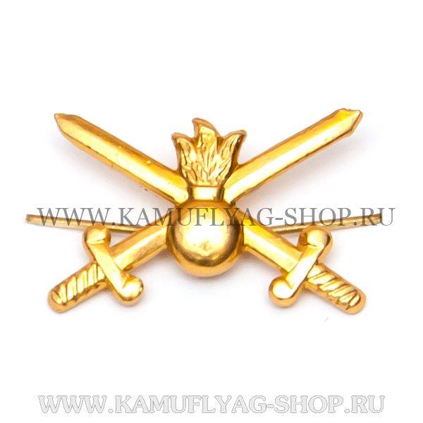 Эмблема петличная сухопутные войска, золотая, (шт.)