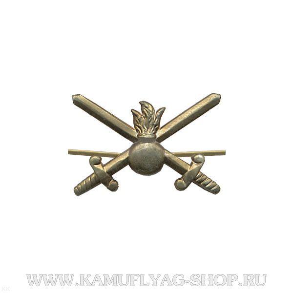 Эмблема петличная сухопутные войска, защитная, (шт.)