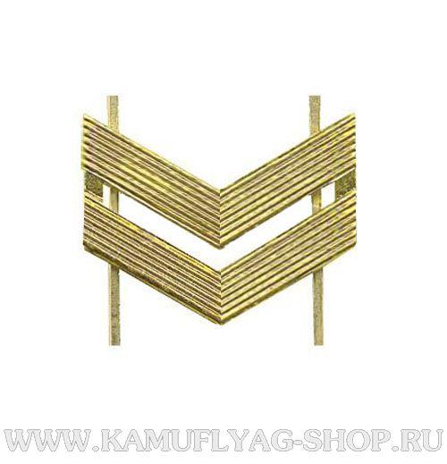 Лычка металлическая ВС Младший Сержант, золотая, (шт.)
