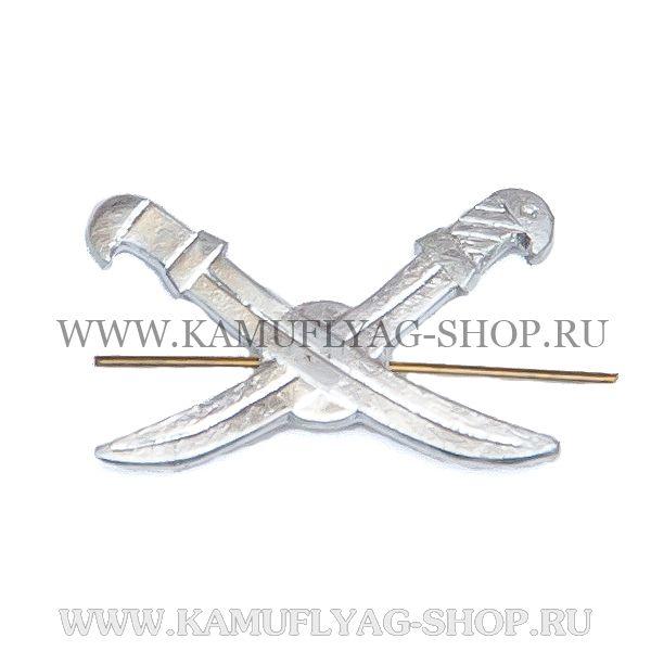 Эмблема петличная Казачество, серебро (шт.)