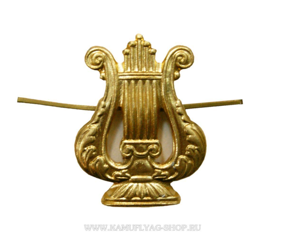 Эмблема петличная ВОС нового обр., золотая, (шт.)