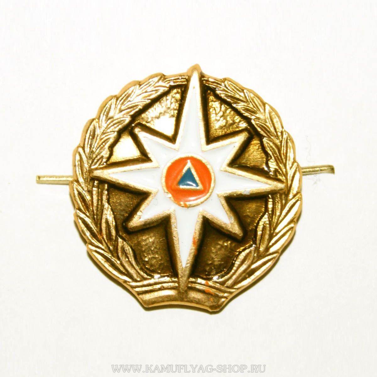 Эмблема петличная МЧС без просечек,золотая (шт.)