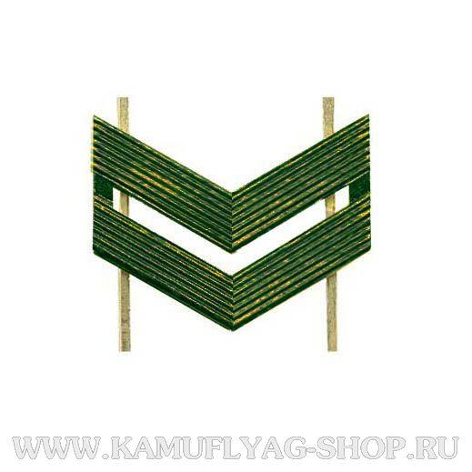 Лычка металлическая ВС Младший сержант, защитная, (шт.)
