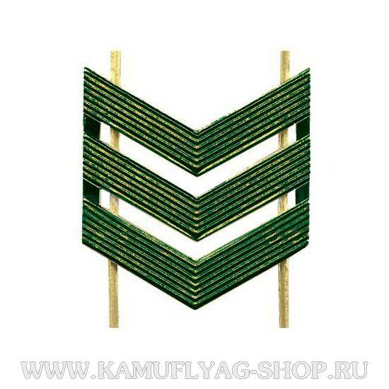 Лычка металлическая ВС Сержант, защитная, (шт.)