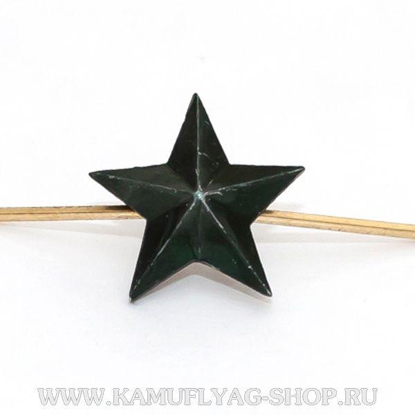 Звезда на погоны металлическая, 20 мм, защитная (шт.)