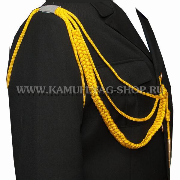 Аксельбант офицерский, один наконечник, желтый