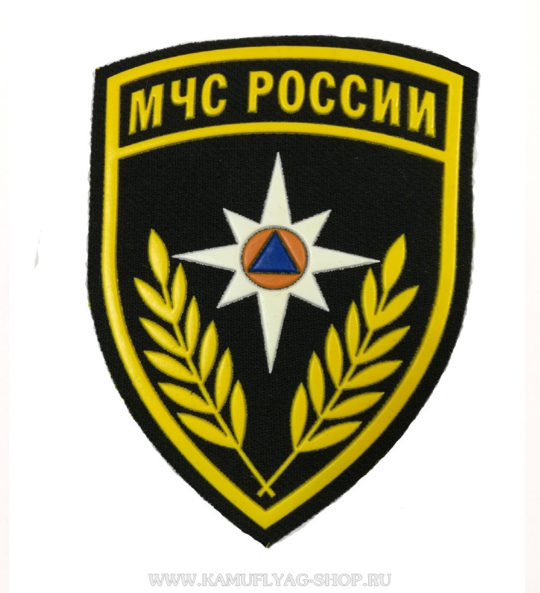 Шеврон МЧС РФ, пластизоль