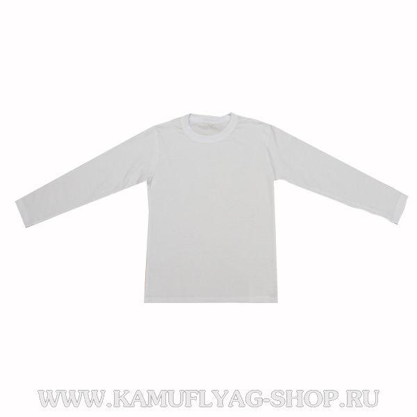 Фуфайка х/б белая с длинными рукавами