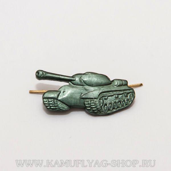 Эмблема петл.знак Танк, метал., защитная, (пара)