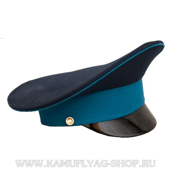 Фуражка синяя, голубой кант, голубой околыш