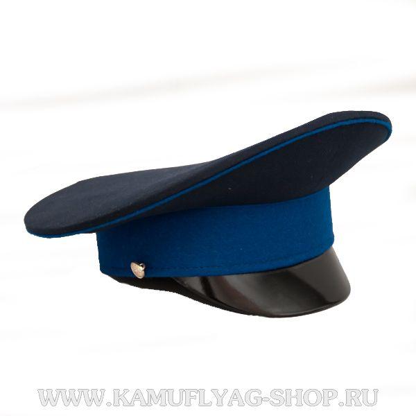 Фуражка синяя, васильковый кант, васильковый околыш