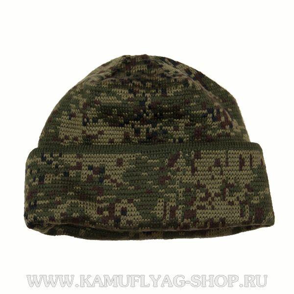 Шапка армейская вязанная двухслойная, русская цифра