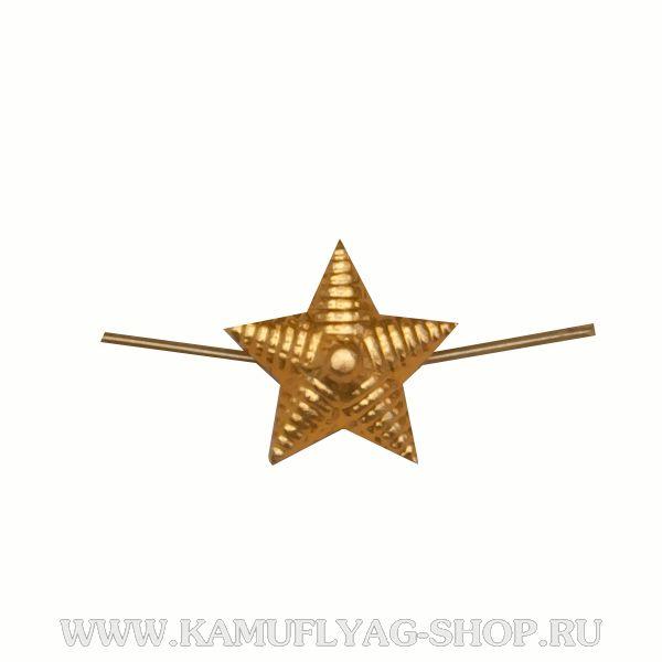 Звезда металлическая рифленая, 13мм, золото (шт.)
