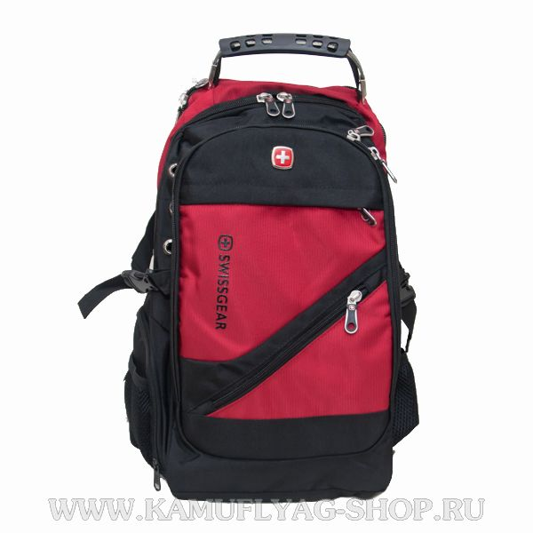 Рюкзак Swissgear из прочной ткани, красный