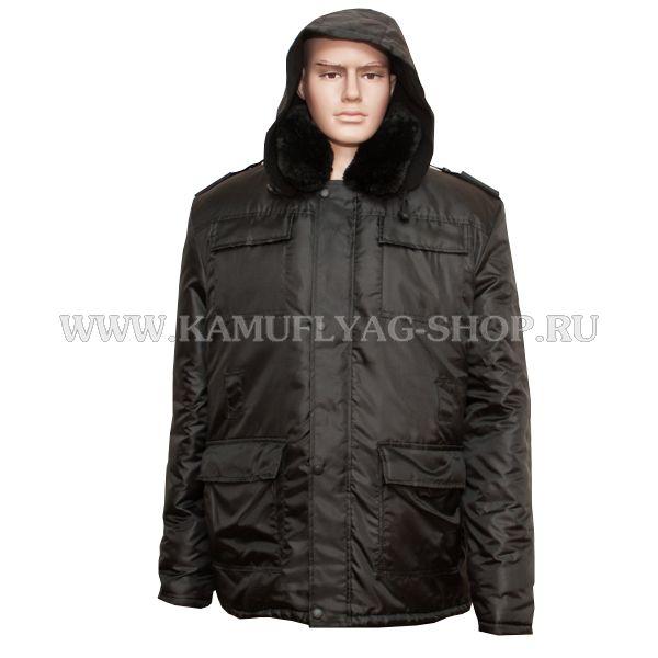Куртка-бушлат зимний, черный