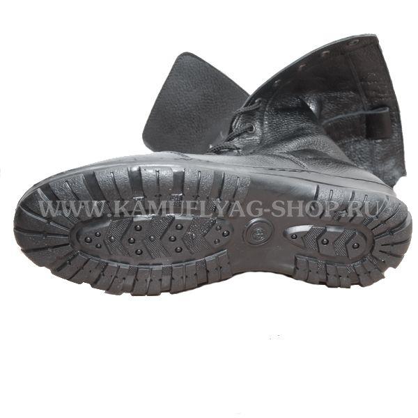 Берцы-кросс кожаные на искусственном меху