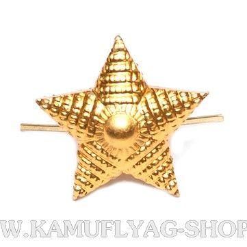 Звезда металлическая рифленая, 20 мм, золотая (шт.)