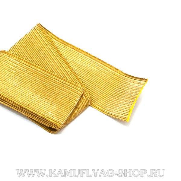 Галун шелковый желтый, текстиль