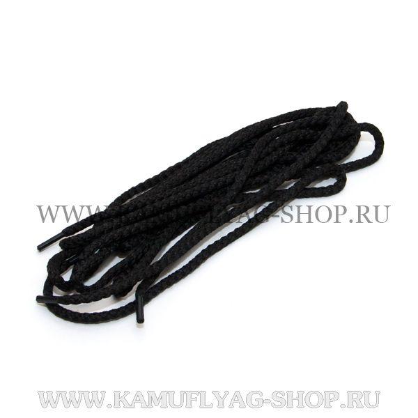 Шнурки для берц, 120 см  (черные)