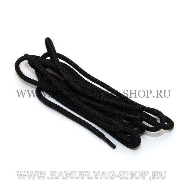 Шнурки тонкие, черные, пара