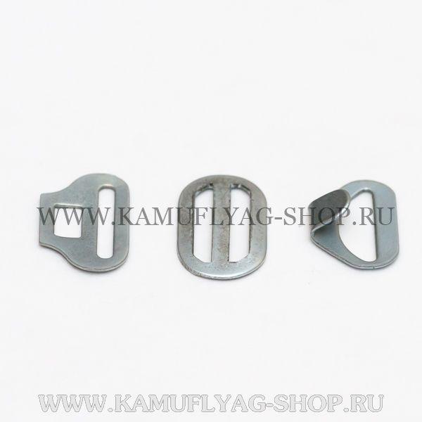 Галстучная фурнитура металлическая, (комплект из 3 частей)
