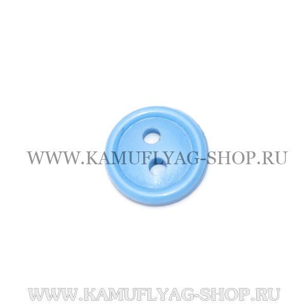 Пуговица рубашечная ВВС / РЖД, с 2-мя проколами, голубая