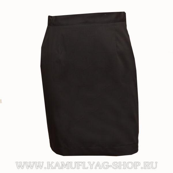 Юбка офисная черная