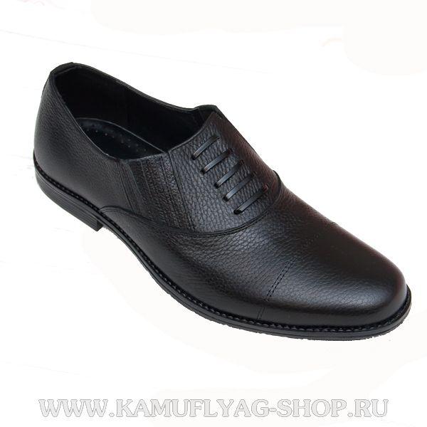 Туфли мужские, имитация шнурков