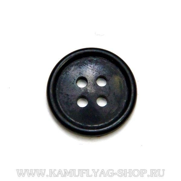 Пуговица 20 мм с 4-мя проколами, черная