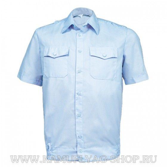 Сорочка форменная с коротким рукавом, голубая (полиция)