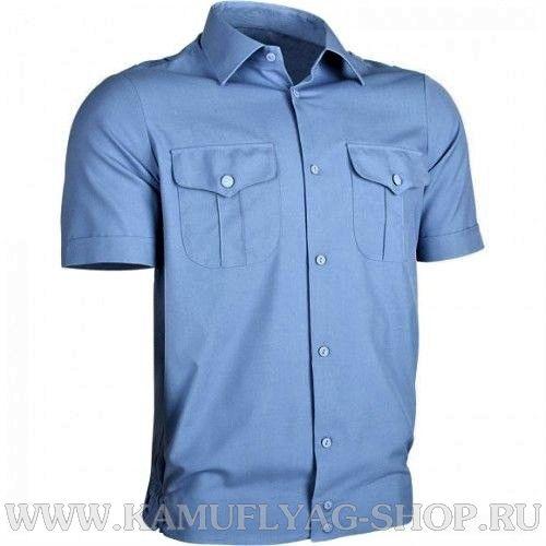 Сорочка форменная с коротким рукавом, голубая